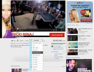 Best Video Downloader screenshot, firefox download button