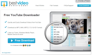 Best Video Downloader site frontpage, download youtube videos plugin