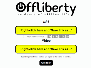 Image 5 - Offliberty allows easy download of online stuff for later listening or watching when you have no internet