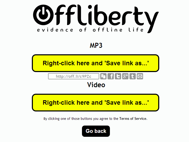 Offliberty.com allows easy download of online stuff for later listening or watching when you have no internet