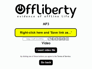 offliberty, very easy download videos from the tube and soundcloud audio and stuff