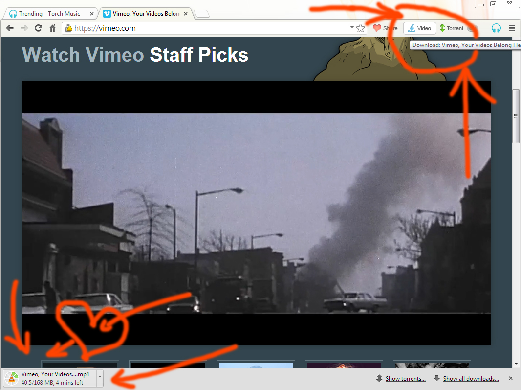 torch browser download audio video easy download from vimeo