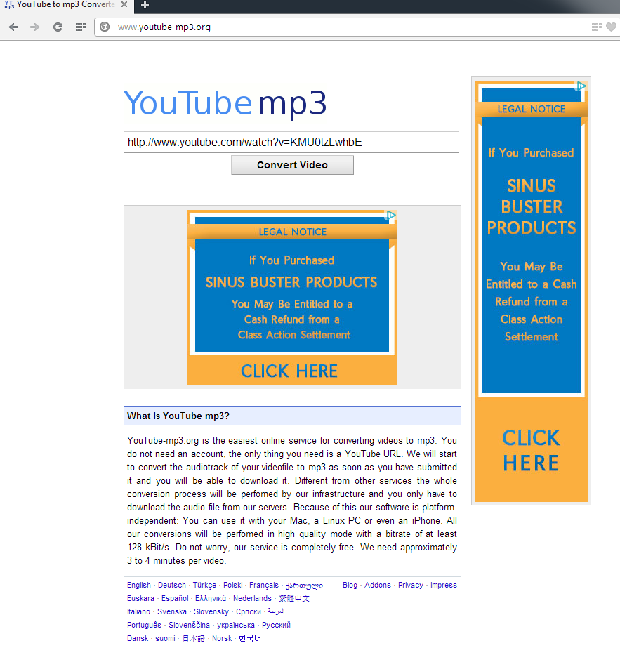youtube-mp3.org save online video as mp3 audio-screenshot 1 initial page