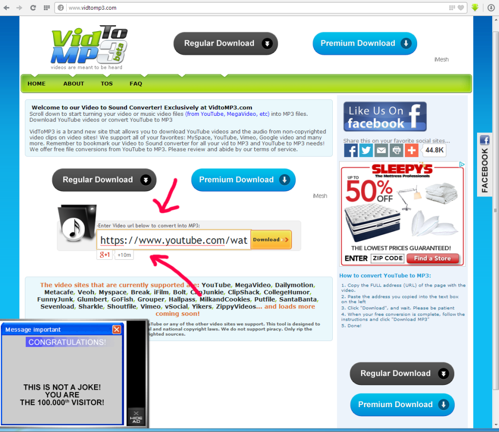 vidtomp3 review safe method save youtube videos as mp3 audio step 1 entering the video url