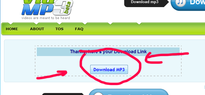 vidtomp3 review safe method save youtube videos as mp3 audio step 4 actual download link showing now