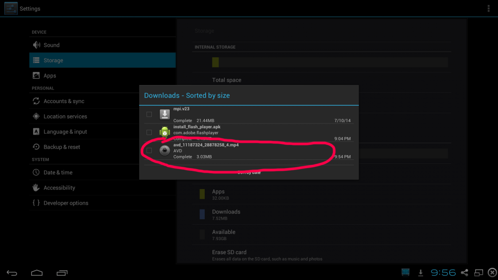 avd android video downloader review confirmation of the video download - android storage agrees