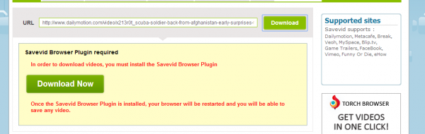 savevid.com download online video and audio trying for dailymotion download - fail