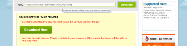 savevid.com download online video and audio trying for youtube - fail