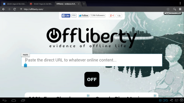 download youtube android free offliberty no app - step 5 press and hold on the box until it offers a Paste link