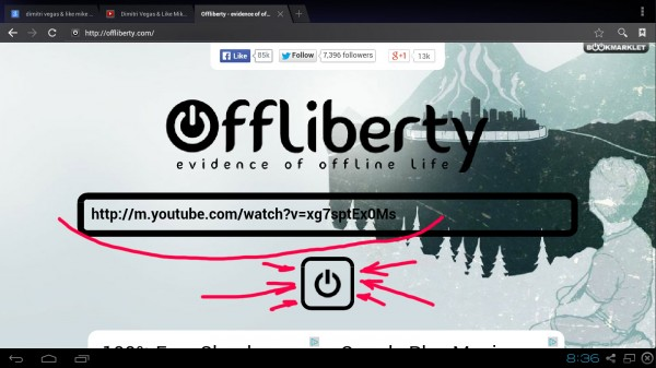 download youtube android free offliberty no app - step 6 the URL is in the box we are ready