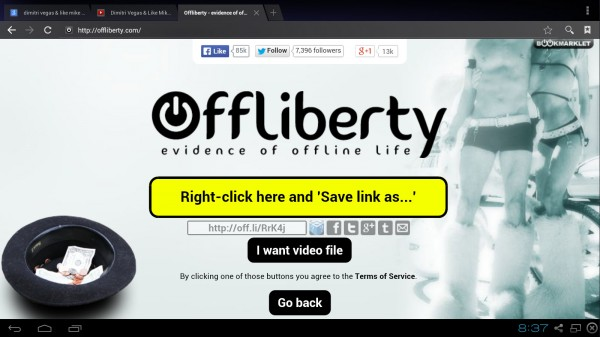 download youtube android free offliberty no app - step 7 download audio right away