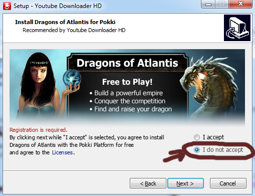 youtube downloader hd download youtube videos high definition do not agree to install and play dragons of atlantis, unless you want to..