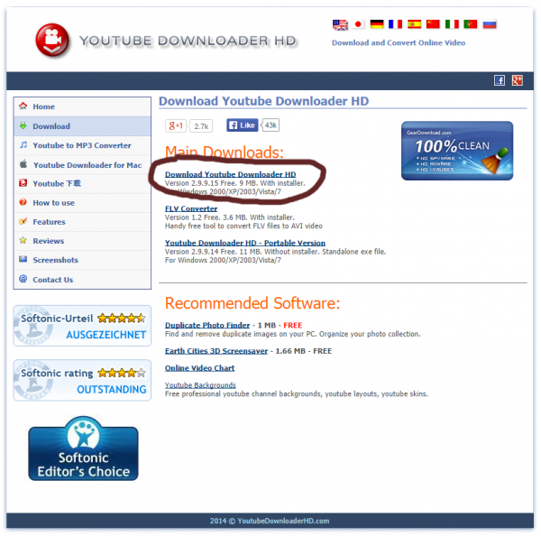 youtube downloader hd download youtube videos high definition initial download screen, not the main page of the site