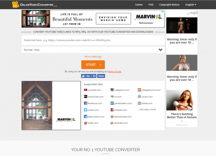 onlinevideoconverter com convert online video to mp3
