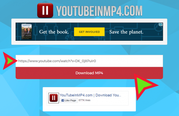youtubeinmp4 front index page