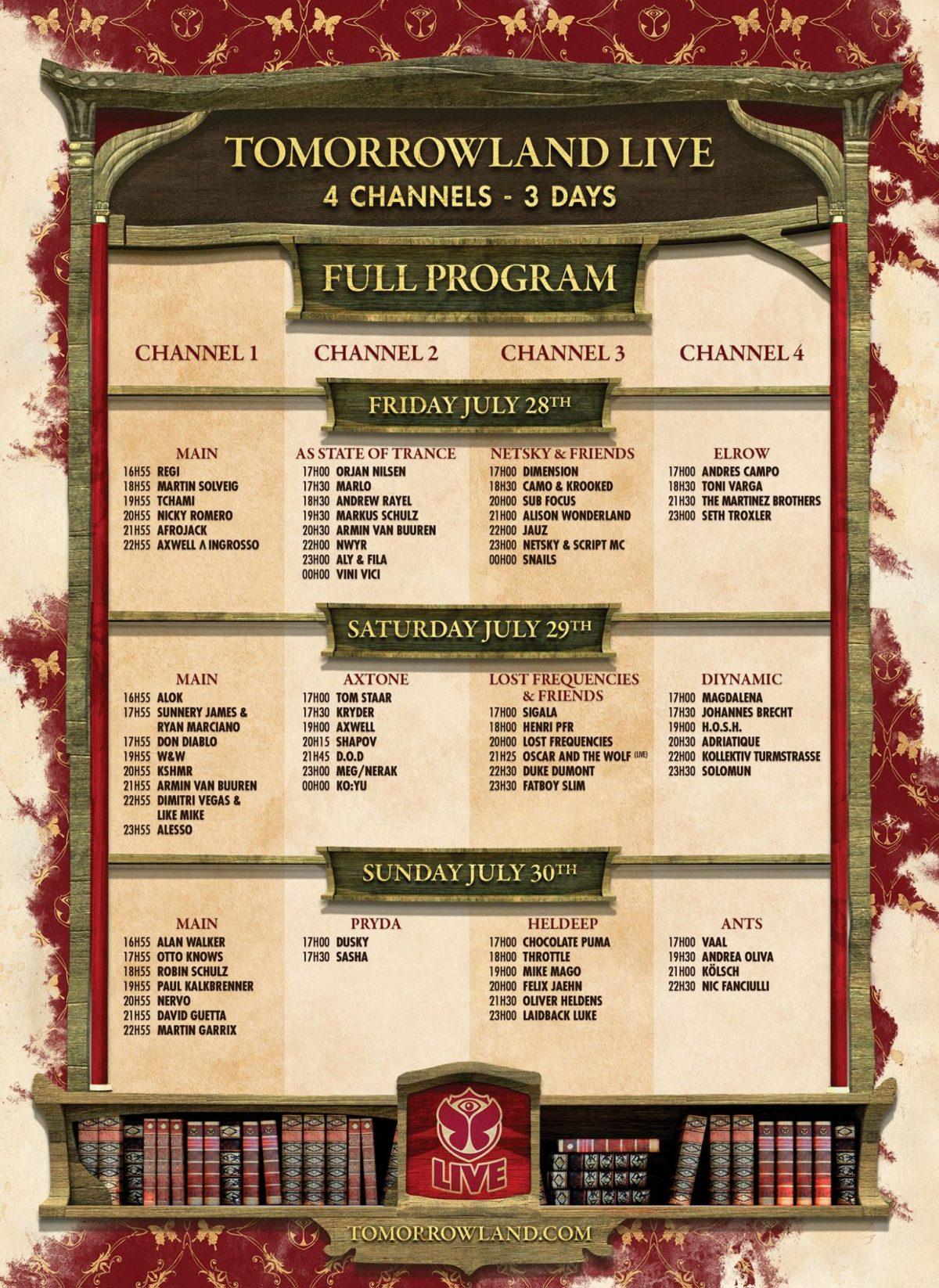 tomorrowland 2017 weekend 2 livestream schedule
