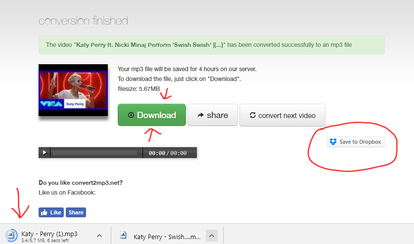 Convert2mp3.net Download Youtube To Mp3 Tutorial Step 5