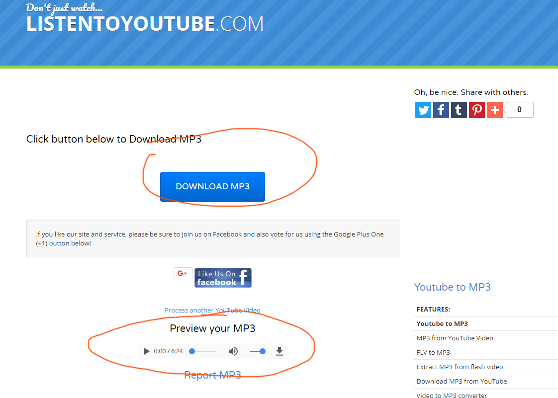listentoyoutube com tutorial step 3 click download button or preview