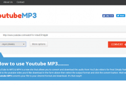 youtubemp3.to quick tutorial and review convert youtube to mp3 step 1 open front page