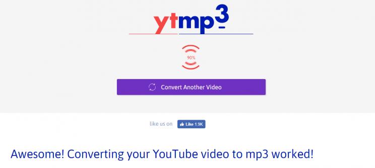 ytmp3.com step2 conversion process indicator