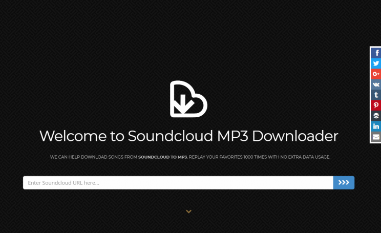 SoundcloudIntoMp3.com download tracks from soundcloud tutorial step 1 open front page