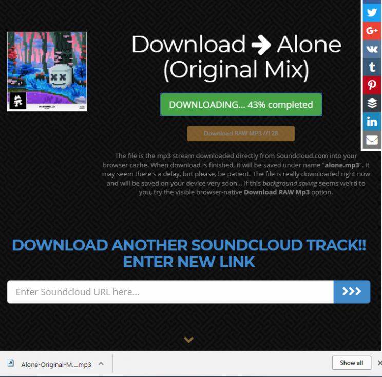SoundcloudIntoMp3.com download tracks from soundcloud tutorial step 4 download properly renamed mp3