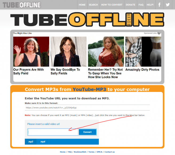TubeOffline.com review tutorial bad user experience step 5 maybe try youtube mp3 converter from ytmp3cc
