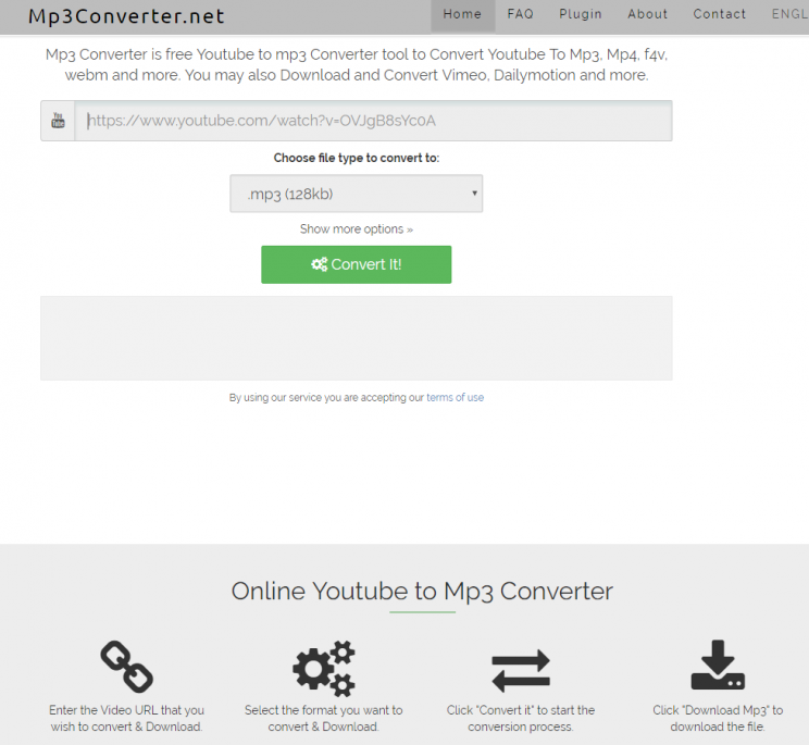 mp3converter.net save youtube a mp3 tutorial review step 1 open front page