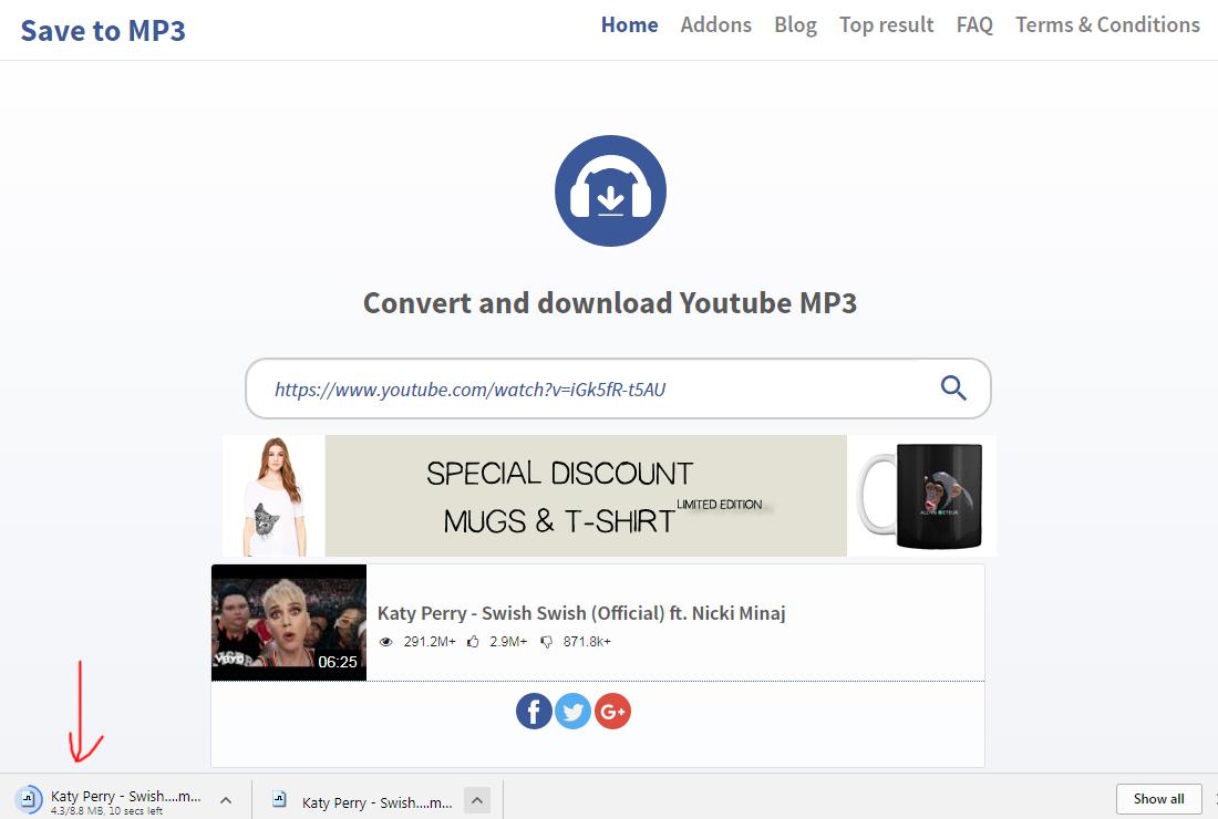 savetomp3 com quick tutorial save youtube to mp3 step 3