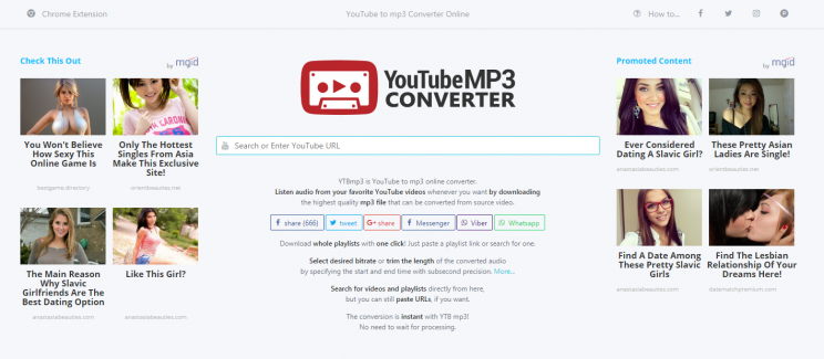 ytbmp3.com review tutorial download youtube to mp3 step 1 front page