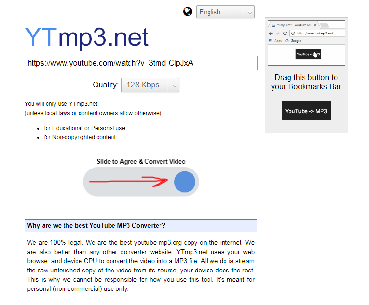 ytmp3.net youtube mp3 client side converter review