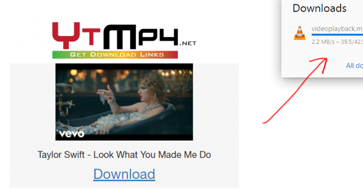 ytmp4.net review tutorial download youtube videos to mp4 step 3 proof of download