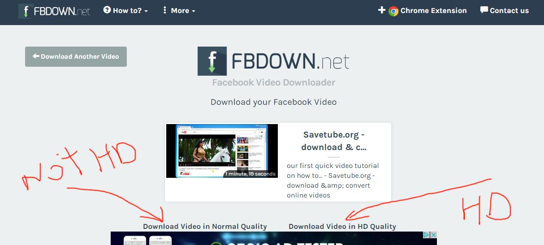 fbdown.net review tutorial download facebook video step 3 ...
