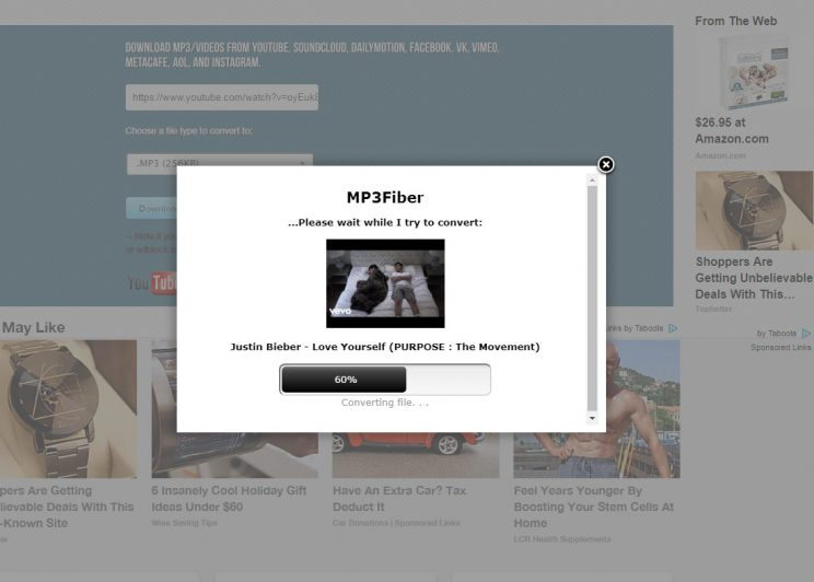 mp3fiber.com review and tutorial step 2 click download to start conversion process