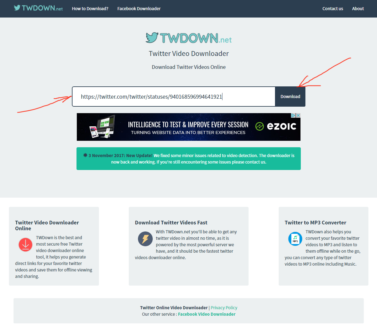 TWDown net Review Tutorial Download Video from Twitter Fast