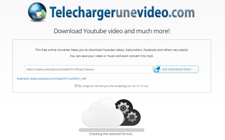 TelechargerUneVideo.com download youtube convert to mp3 tutorial step 3 checking the selected format