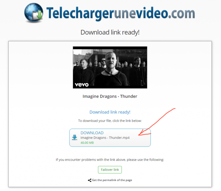 TelechargerUneVideo.com download youtube convert to mp3 tutorial step 5 click the download button now