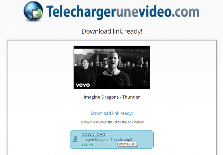 TelechargerUneVideo.com download youtube convert to mp3 tutorial step 7 now download the converted mp3