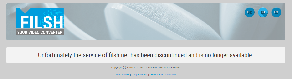 filsh net youtube downloader converter is not working anymore