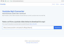 mp3-youtube.download review and tutorial step 1 open front page of the site
