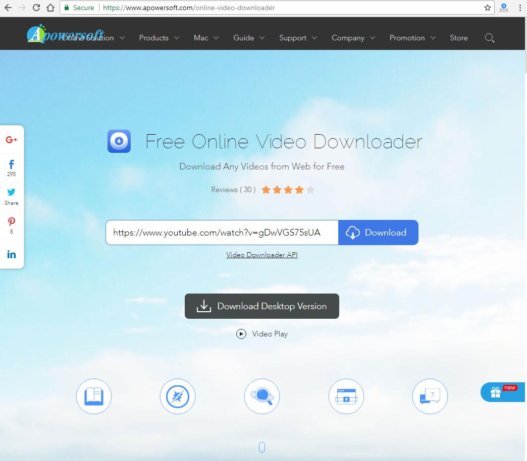 Apowersoft Free Online Video Downloader Revisión Tutorial-5363