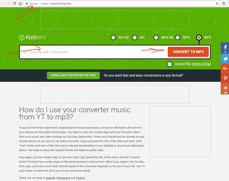 flv2mp3.by front page index look