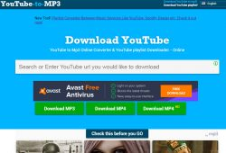 youtubecomtomp3 com tutorial step 1 front page