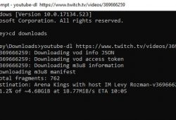download twitch videos using youtube-dl cmd screen