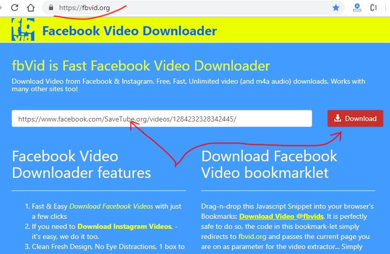 FBVid org - Fast Facebook Video Downloader with zero distractions