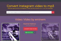 enter link - see options for ig mp3 download