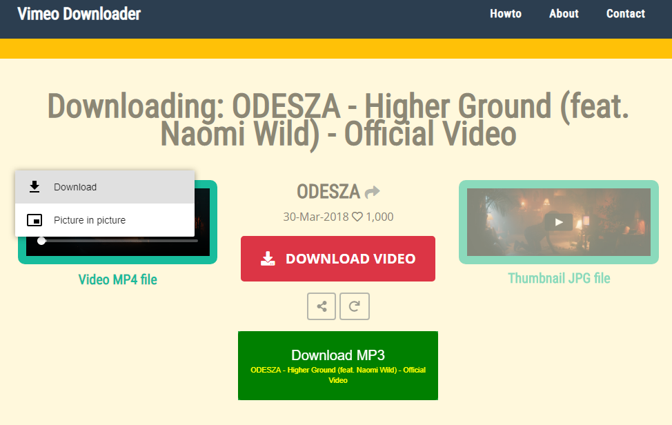Vimeo downloader online  Download videos from vimeo with this website