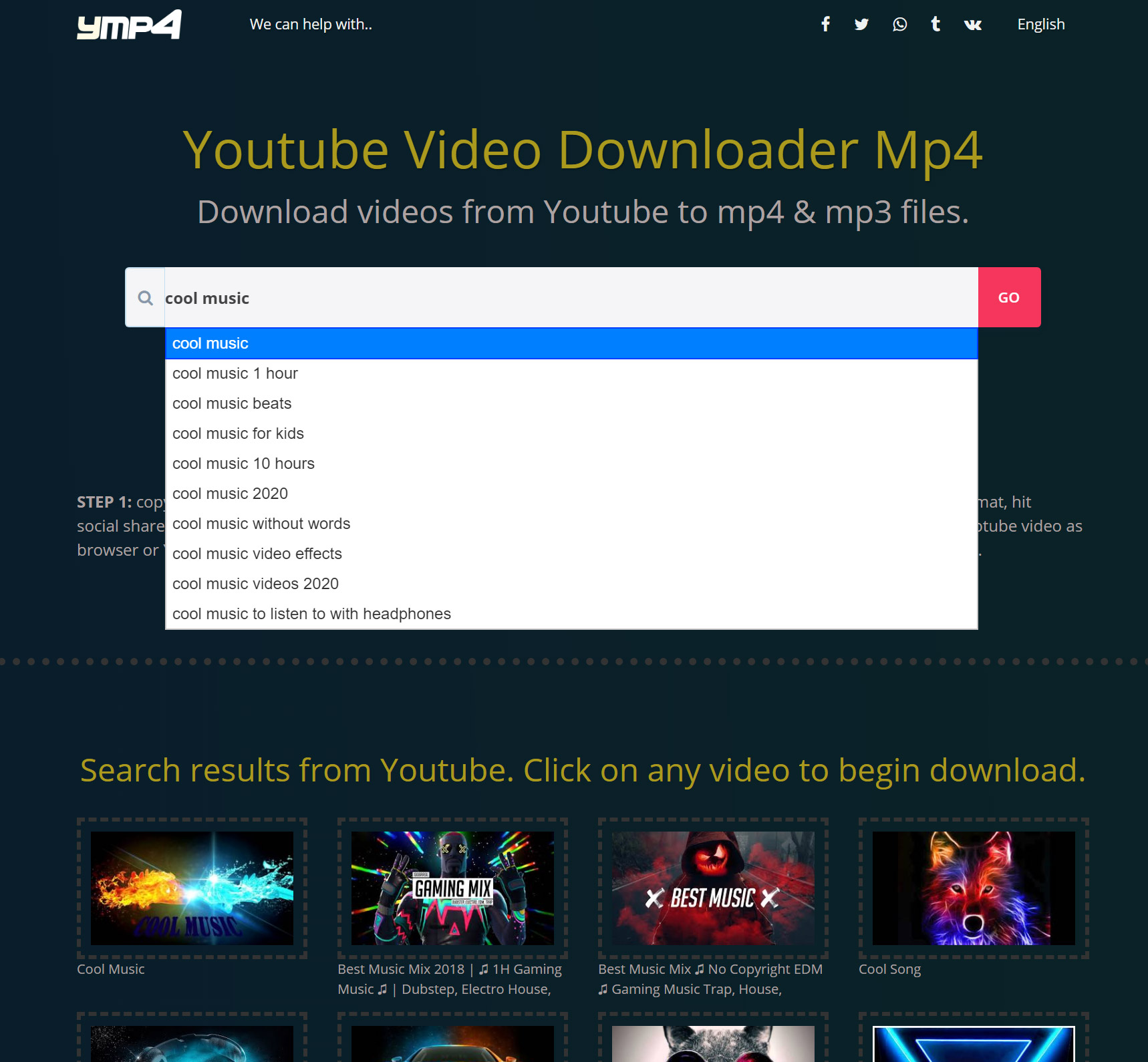 Ymp4.download - new cool Youtube to mp4 downloader & mp3 ...