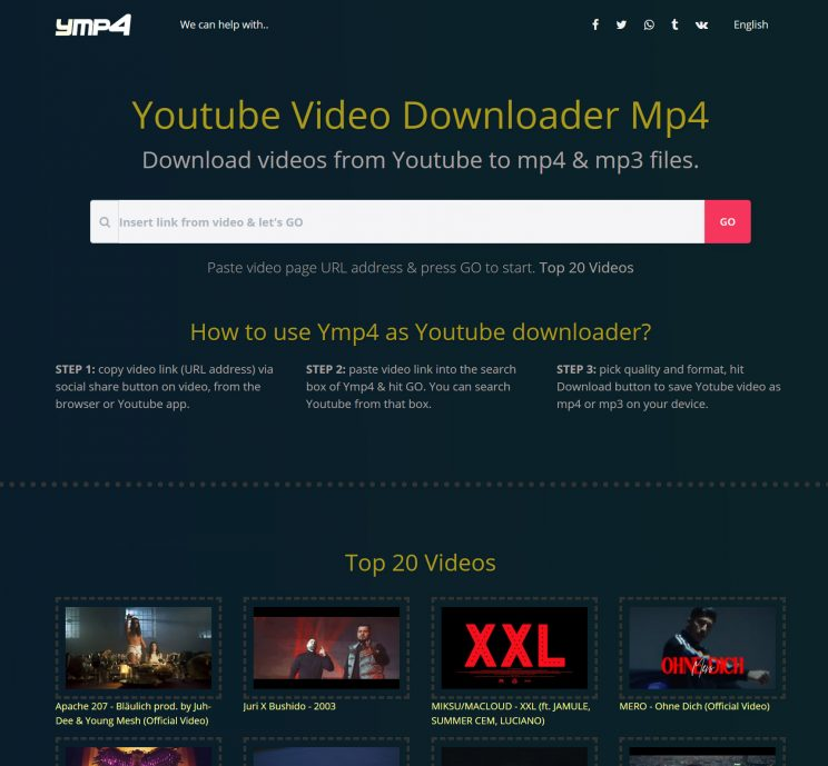 ymp4 download front page top 20