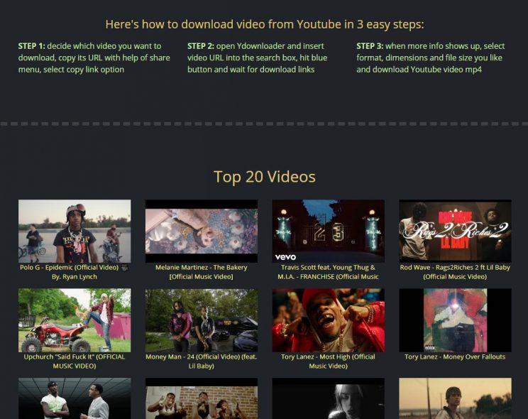 ydownloader top 20 videos